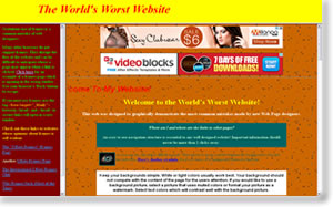 The World's Worst Website mostra un compedio di errori e di orrori
