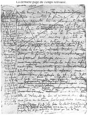 L'ultima pagina de Il tempo ritrovato di Marcel Proust