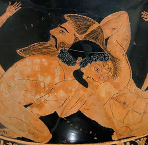 Lotta tra Ercole e Anteo