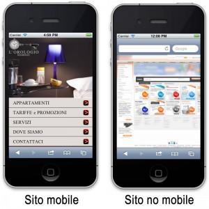 Sito mobile vs sito no mobile