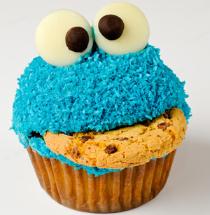 cookie monster cupcake by Brett Jordan